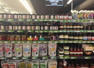 Products-on-supermarket-shelves