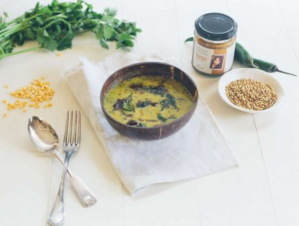 Coriander Dahl Lentil Stew with Spinach
