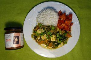 Tofu Pumpkin Curry plating