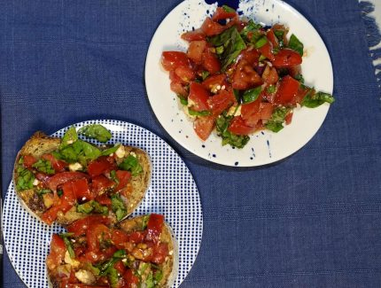 Bruschetta or Tomato Basil Salad with Latasha's Kitchen Caramelised Balsamic Vinegar
