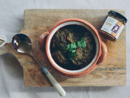 Lamb or Capretto Saag – Goat in Creamy Spinach Curry