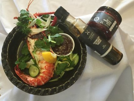 Crayfish (Lobster) with Beetroot & Balsamic Dip