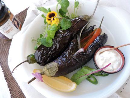 Coriander Masala Stuffed Baby eggplant