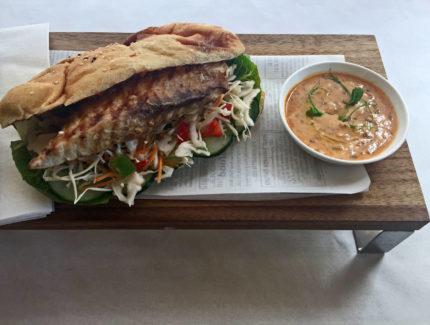 Zingy Fish burger