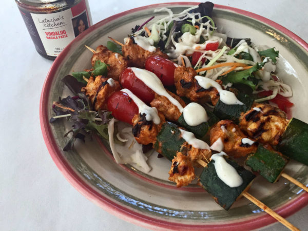 vindaloo fish skewers