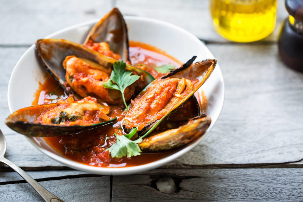 butter chilli mussels