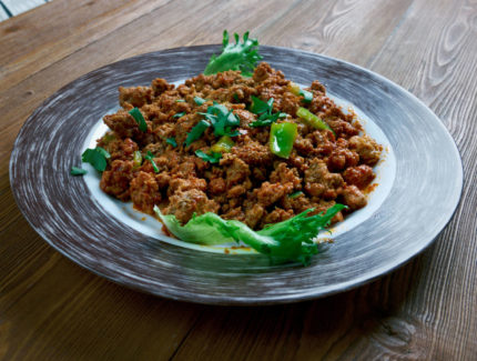 Minced Beef Kheema with Spinach