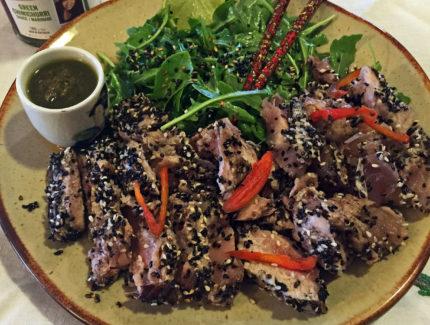 Tuna Wasabi with Chimichurri Sauce