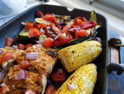 Grilled Salmon and Veggies