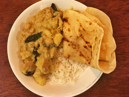 Potato and Chickpea Turmeric Curry