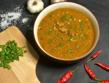 Coriander Chicken with Fresh Fennel in Dhal Stew