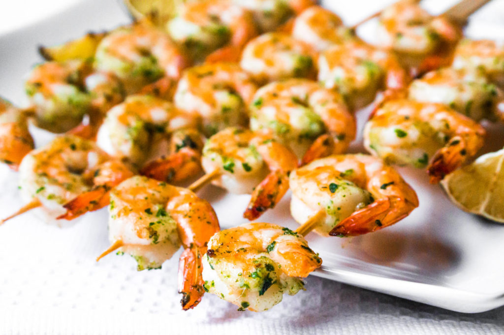 Pineapple Chimichurri Prawns by Latasha's Kitchen