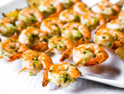 Grilled Prawns with Pineapple Chimichurri