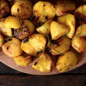 Turmeric potato wedges by Latasha's Kitchen
