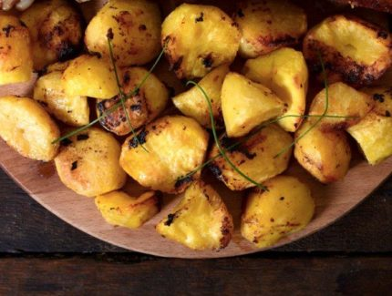 BAKED TURMERIC POTATO WEDGES