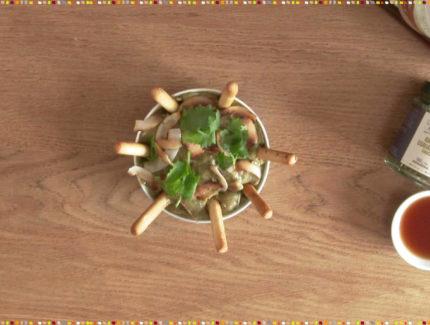 Green Coriander with Coconut Tahini Sauce (Video)