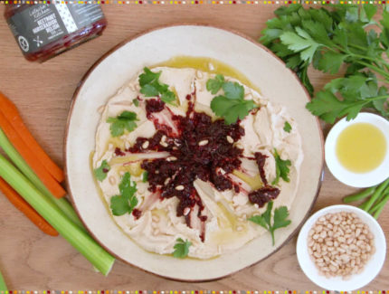 Quick & Easy Hommus Platter With Beetroot Horseradish Relish (Video)