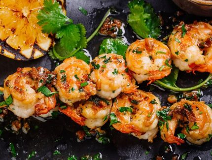 King Prawn Skewers with Chilli Mayo