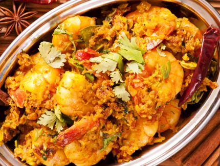 MASALA PRAWNS WITH PEPPERS