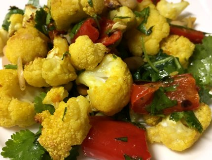 Roasted Cauliflower Salad with Turmeric Spice Magic