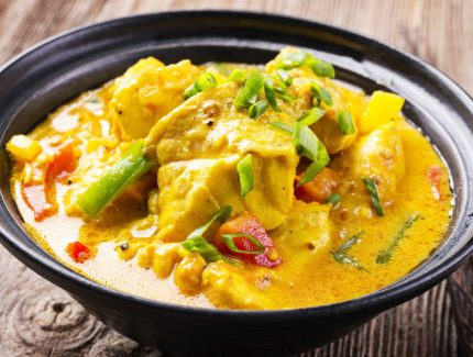 Turmeric Snapper Curry with Greens