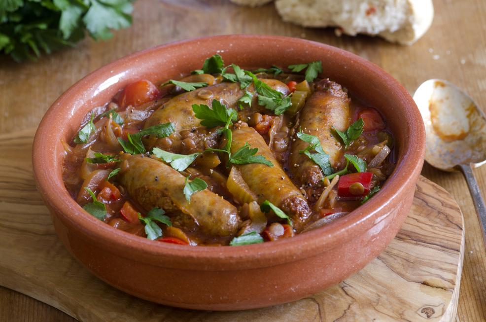 Madras Sausage and Lentil Curry
