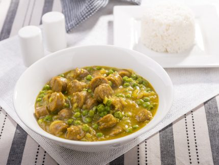 Thai Green Curry with Chicken Sausages
