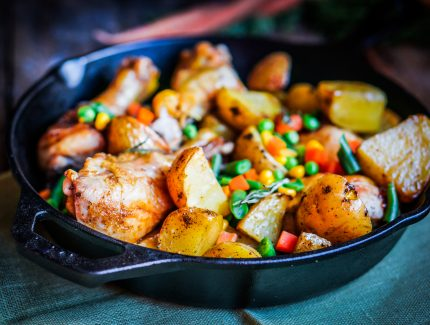Spicy One Pot Chicken & Veggies with Caramelised ACV