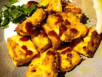 Spicy Turmeric Tofu Bites