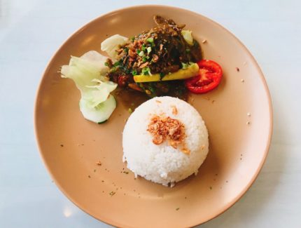 Rendang and Rice