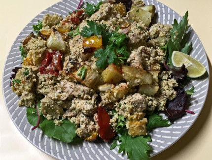 Chicken, couscous & sweet potato salad