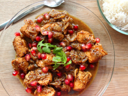 Persian style chicken stew with Pomegranate