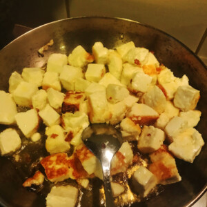 Indian Green Curry Paneer