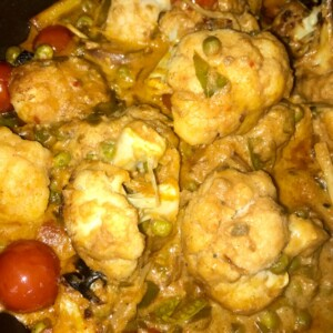 Madras Cauliflower with Truffle Mustard