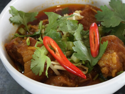 Burmese Pork Belly and Potato Curry