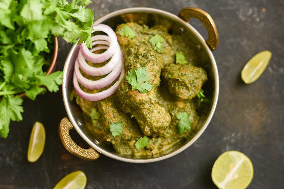 Madras Chicken in Green Sauce